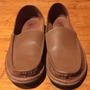 Rainbow men's brown leather loafers.